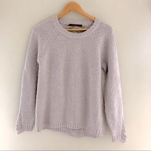 Feel The Peace Lilac Distressed Sweater